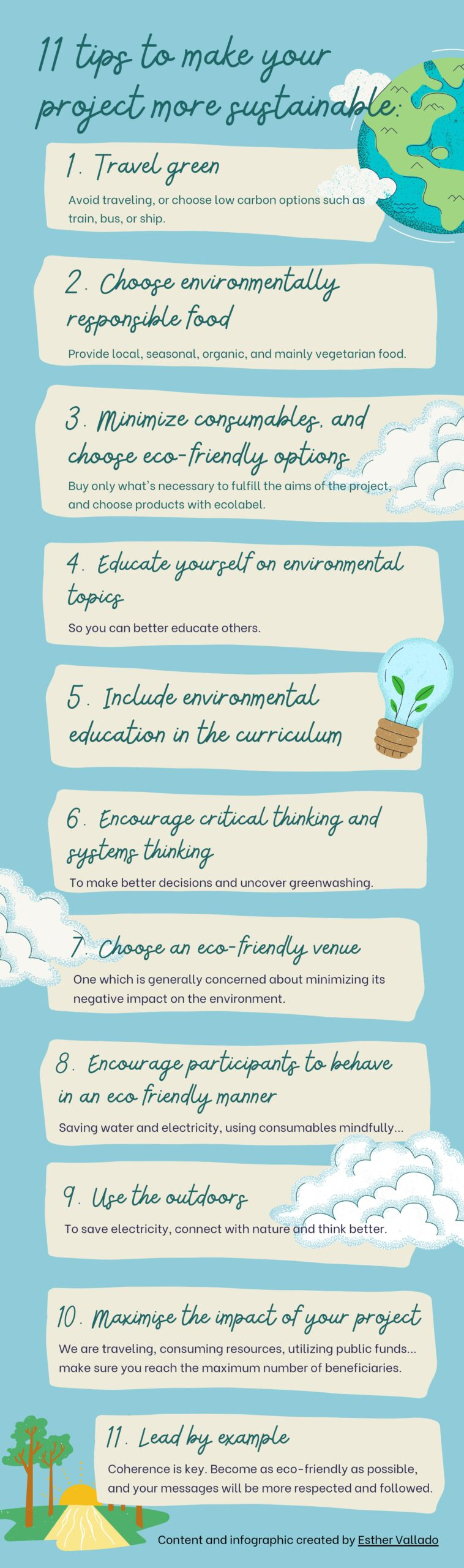 11 tips to make your project more sustainable